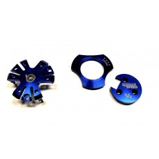 Blue - Aluminum Set of 3 Pieces for All V3 Motors