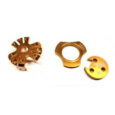 Orange - Aluminum Set of 3 Pieces for All V3 Motors